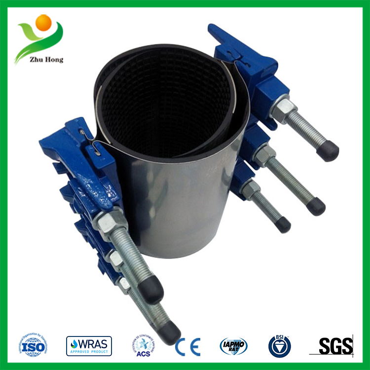 Zr double bands ductile iron band repair clamp product